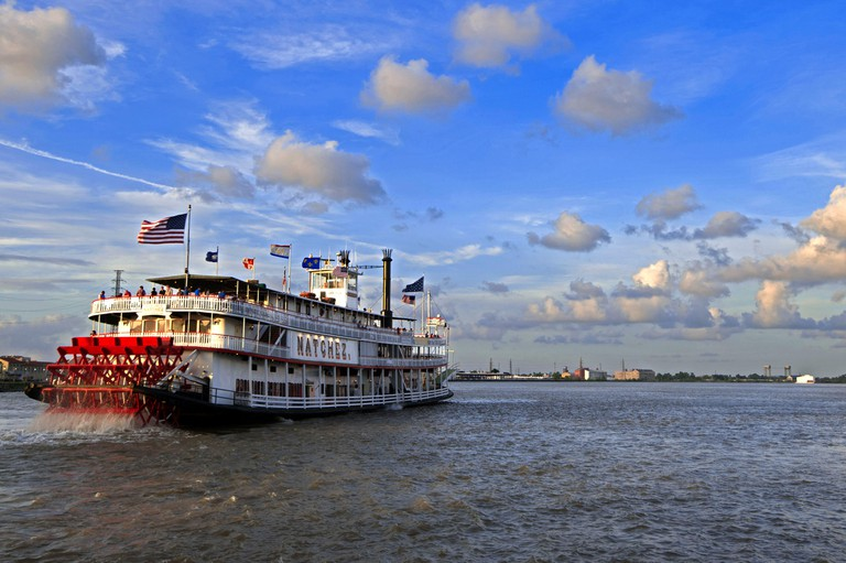 United States,Louisiana,New Orleans,the steamboat Natchez on the Mississippi river