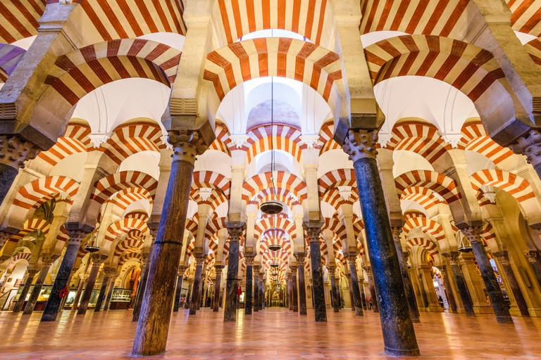 CORDOBA, SPAIN - CIRCA 2014: Mosque-Cathedral of Cordoba. The site underwent conversion from a church to a mosque and back again