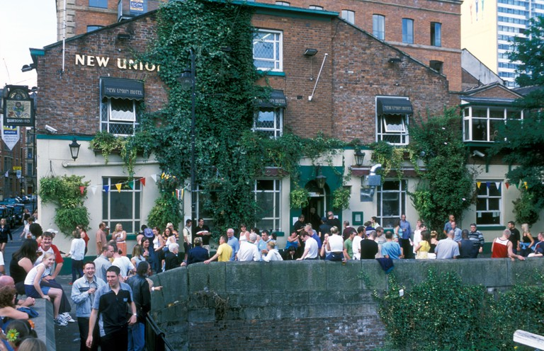 New Union pub Canal Street gay area of Manchester UK