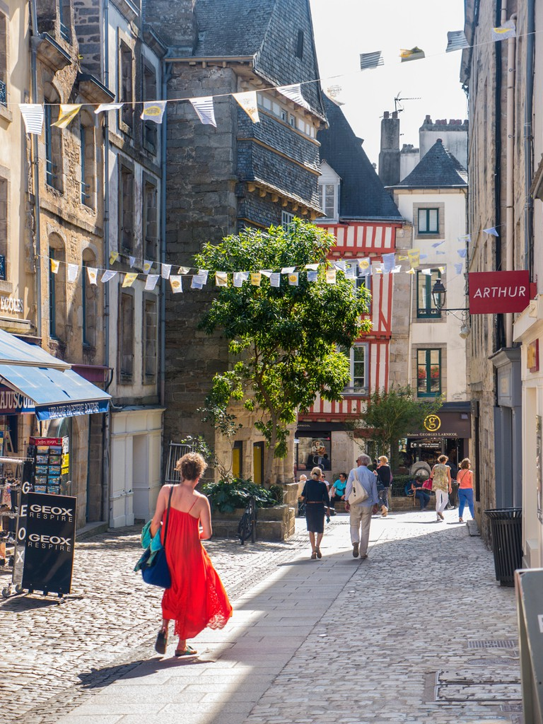 Cobbled streets in Quimper, Brittany
