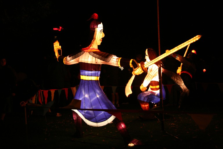 A Chinese warrior in the form of a Chinese Lantern