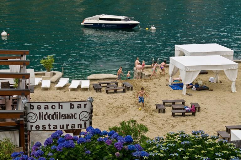 Lido di Lenno beach bar, Lenno, Como lake, Italy
