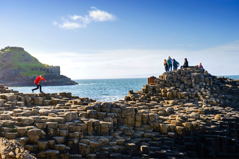 Stop by the Giant's Causeway on this walk along Northern Ireland's coastline
