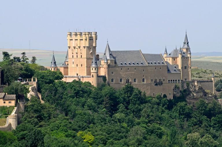 Alcazar, palace, castle, museum, Segovia, Castile and Leon, Spain, Europe, PublicGround