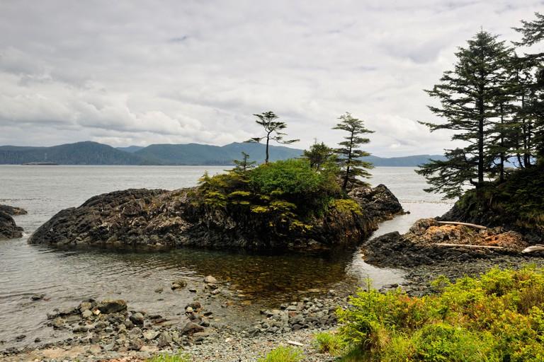 SGang Gwaay Island UNESCO World Heritage site Gwaii Haanas National Park Haida Gwaii Queen Charlotte Islands BC Canada