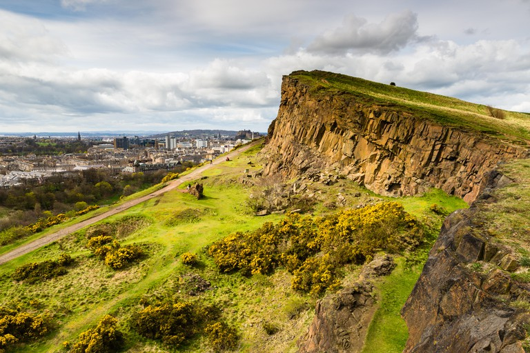 View of Edinburgh from the Arthur's seat