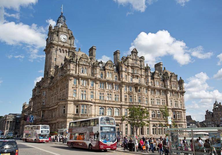The Balmoral Hotel in Princes Street, Edinburgh, Scotland.. Image shot 2014. Exact date unknown.
