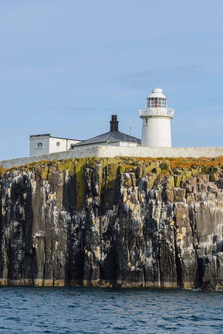 Lighthouse on Farne Islands, Northumberland, England