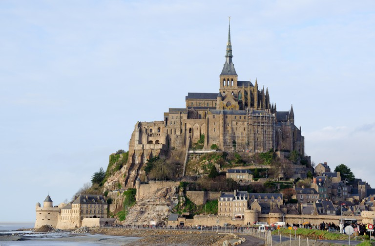 View on the Le Mont Saint Michel monastery, Normandy, France.Photo taken on: January 02nd, 2014
