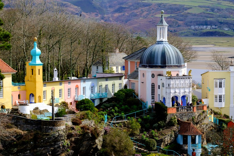 Portmeirion -  a holiday resort and hotel in North Wales used in the TV series 'The Prisoner' as 'The Village'