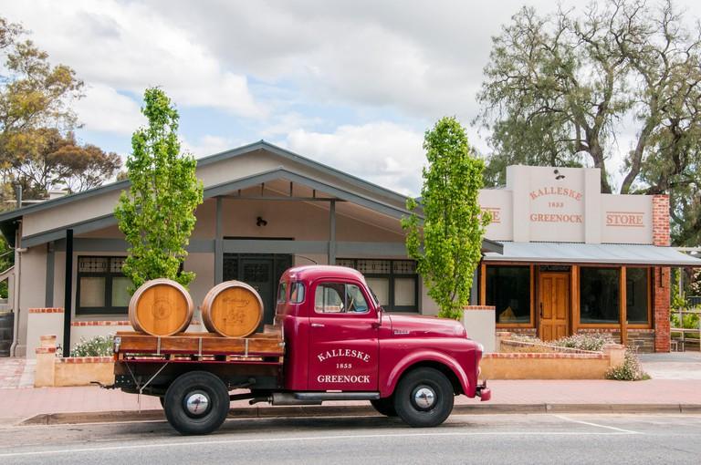Main street of the village of Greenock, Barossa Valley, South Australia