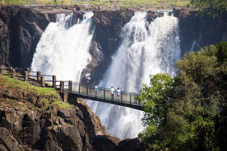 Rainbow bridge and Victoria  Falls, Zambia