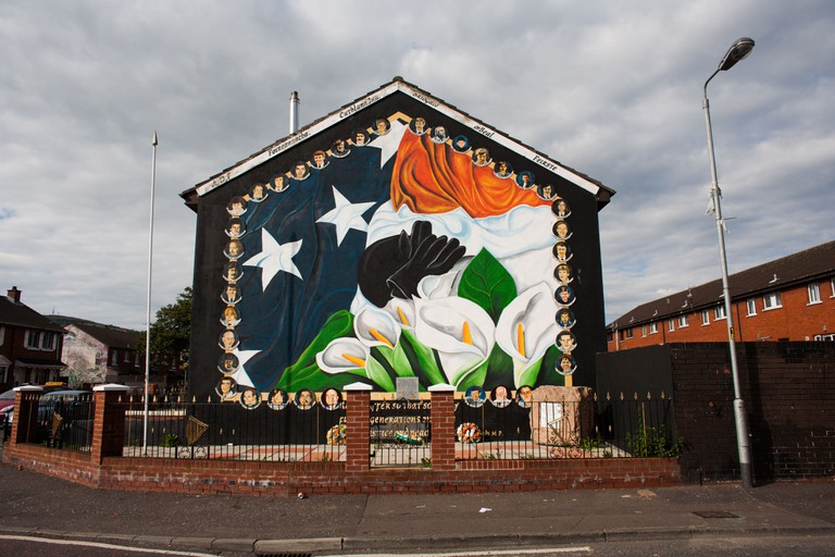 A nationalist mural in Ardoyne, Belfast, Northern Ireland.