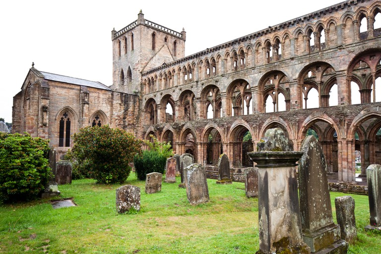 Jedburgh Abbey (12th-century). Jedburgh. Scottish Borders. Scotland.