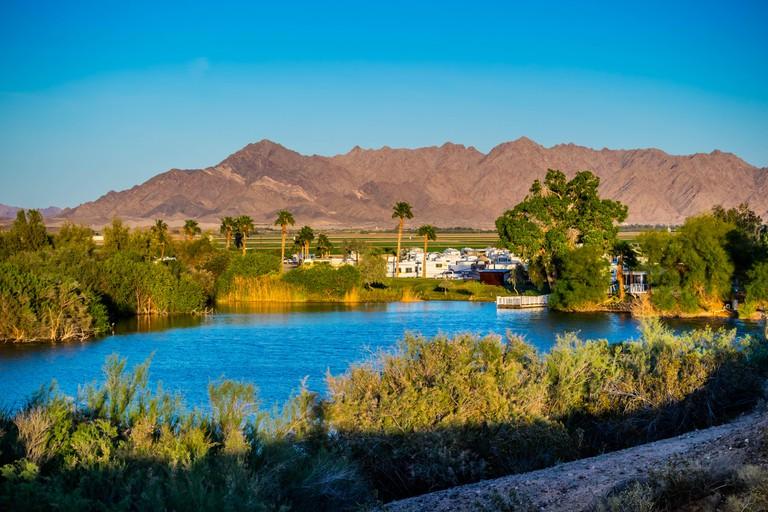 The famous Yuma Lakes in Yuma, Arizona