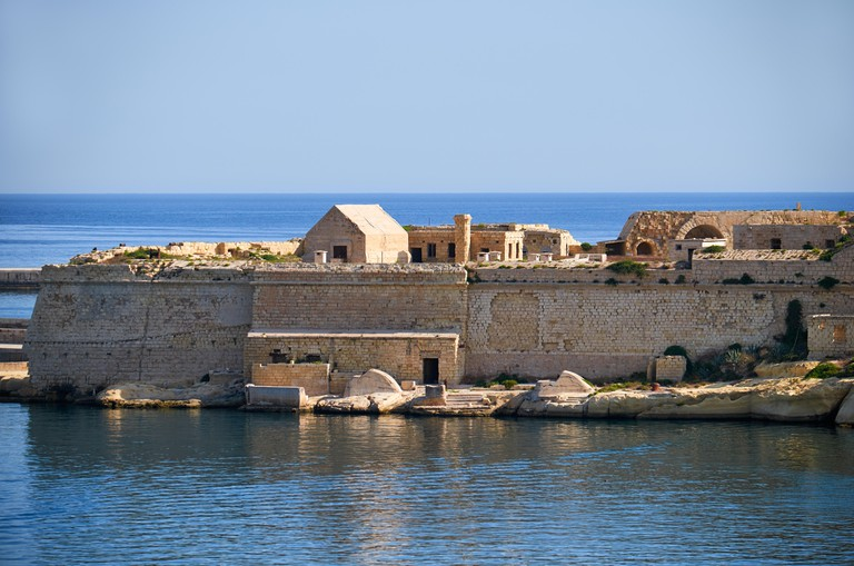 The Point Battery of Fort Ricasoli in Kalkara peninsula, Malta. Image shot 11/2016. Exact date unknown.