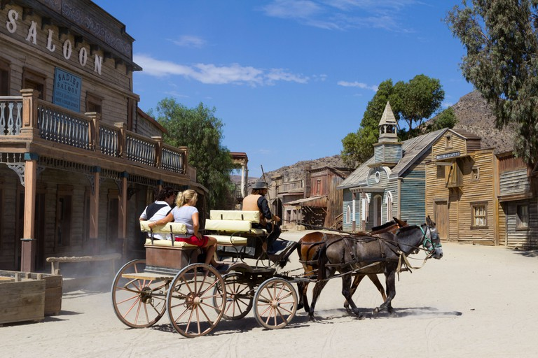 Texas Hollywood film set, used as location for the Western film Once Upon a time in the West