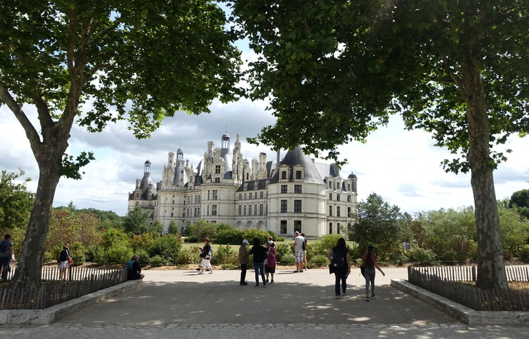 Chambord, France 30 July 2019: Chateau de Chambord in the Loire Valley in France