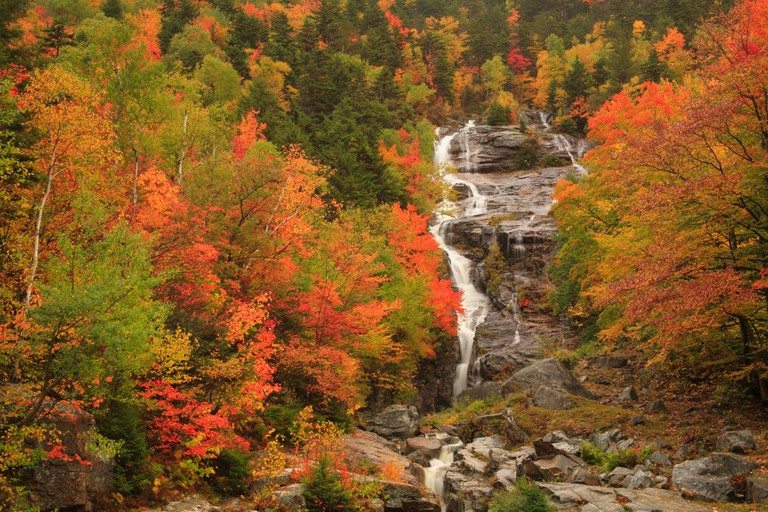 Silver Cascade, Crawford Notch, North Conway, White Mountains, New Hampshire, USA