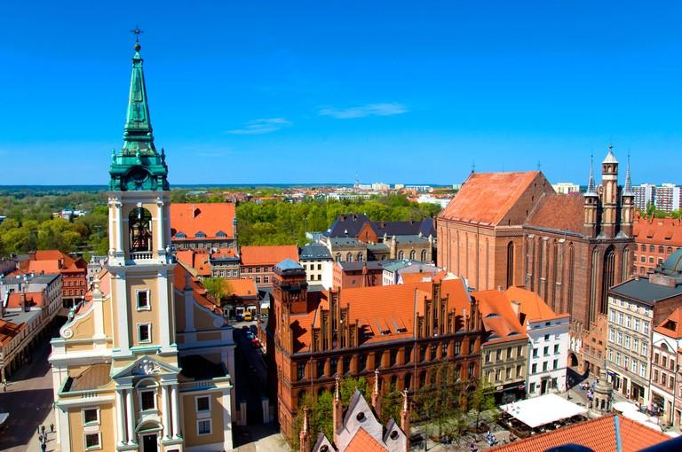 Aerial View of town, Torun, Poland