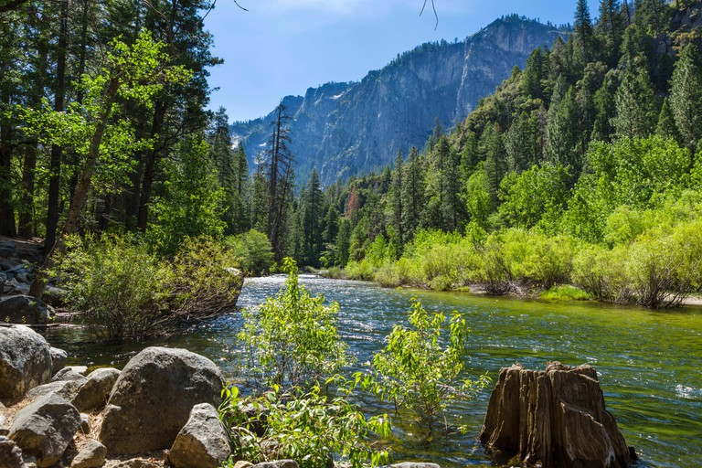 Merced River from El Portal Road in Yosemite Valley, Yosemite National Park