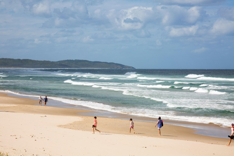 Seven Mile Beach on the north coast of New South Wales, Australia.