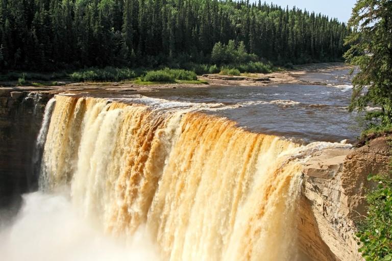 Alexandra Falls  on Hay River, NWT, Canada