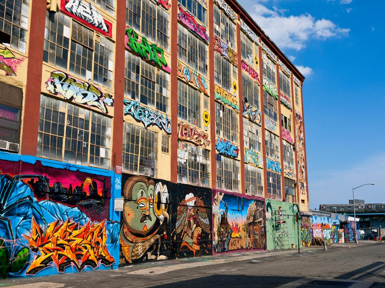 5 Pointz, Long Island City, Queens, New York, famous as the Graffiti Museum.. Image shot 2012. Exact date unknown.