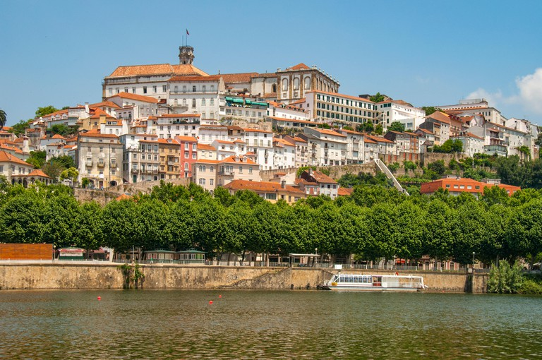 University from Clara Bridge, Coimbra, Portugal