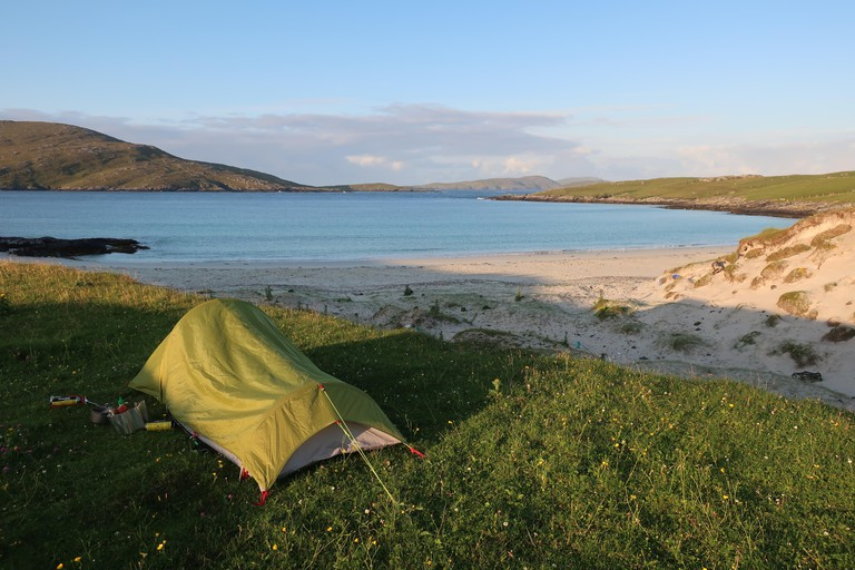 Wild camping on Vatersay just before the Hebridean WayThe Hebridean WayThe Outer HebridesWestern IslesThe highlandsScotlandUK
