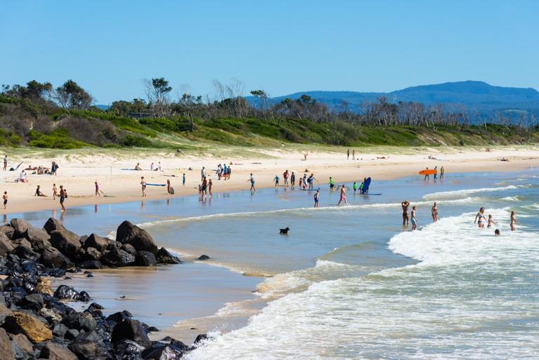 Byron Bay Main beach, New South Wales, Australia.