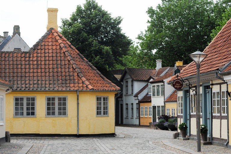 H. C. Andersens Hus (Hans Christian Andersen House) on Hans Jensens straede, Odense, Region of Southern Denmark, Denmark. August 21st 2010, was a Hans