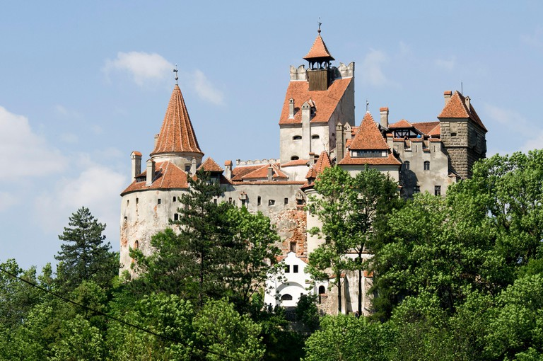 Romania, Transylvania, Brasov region, Bran, Bran castle of the 13th century associated with Vlad III the Impaler and the character Dracula