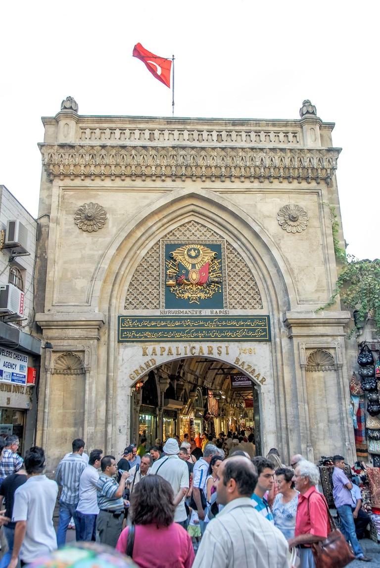 Fatih, Istanbul, Turkey, 01 September 2007: Grand Bazaar, Bedesten, Fatih Sultan Mehmet 1461