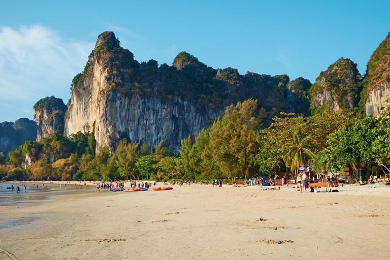 Ao Phra Nang Bay, Railay Beach, Tonsay Beach, Krabi Province, Thailand, Southeast Asia, Asia