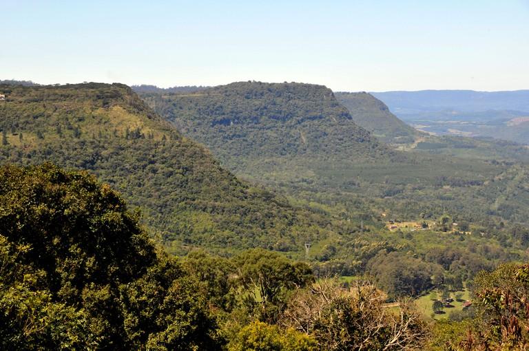 Canyons between the towns of Gramado and Canela, Rio Grande do Sul, Brazil