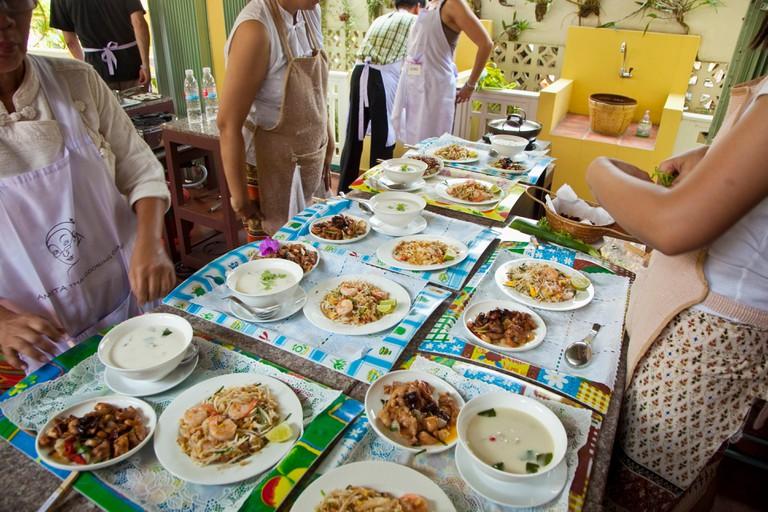 Thai Cooking School  Amita Thai cooking class  Bangkok  Thailand.