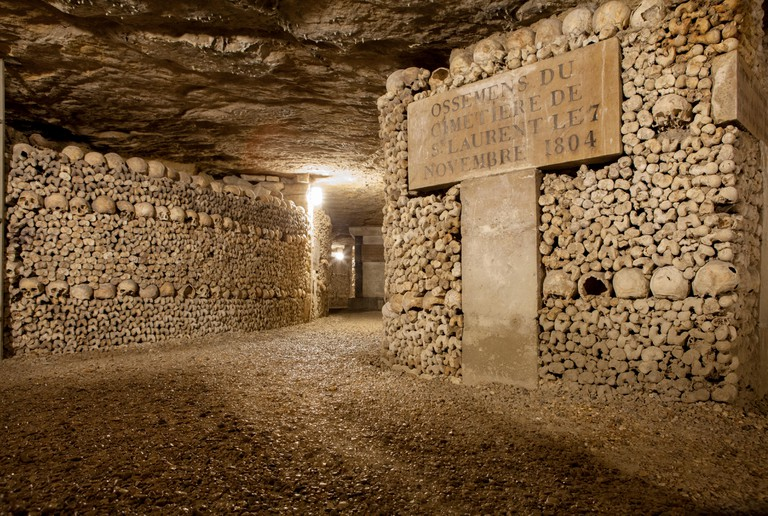The Catacombs of Paris hold the remains of more than six million people