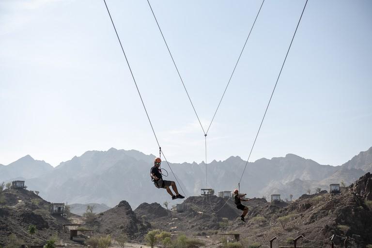 Hatta Wadi Hub- Hatta Twin Zipline