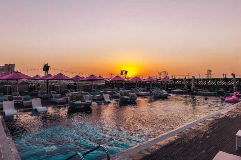MIS Pool Sunset