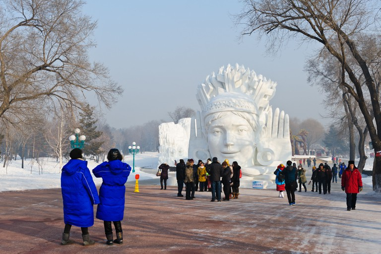 The 30th Harbin International Ice and Snow Sculpture Festival in 2014. China