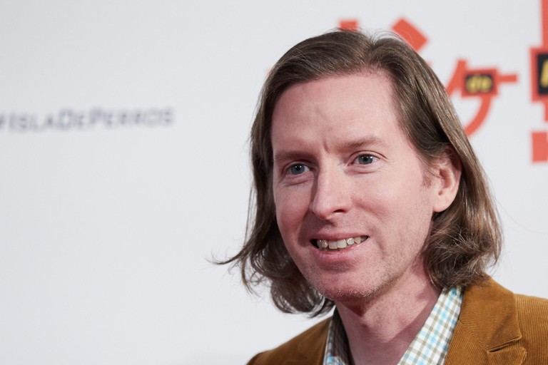 """El director Wes Anderson  during the premiere of the movie """"Isla de Perros""""in Madrid Tuesday, Feb. 27, 2018"""
