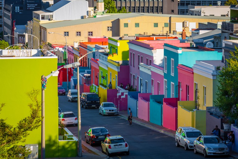 The coloured houses of Bo-Kaap, Cape Town, South Africa