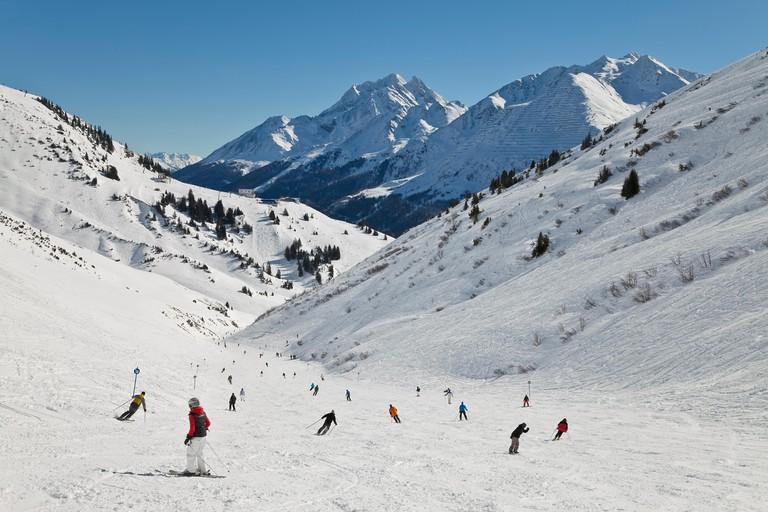 Resort mountains and ski at St Anton am Arlberg, Tirol, Austria, 2008