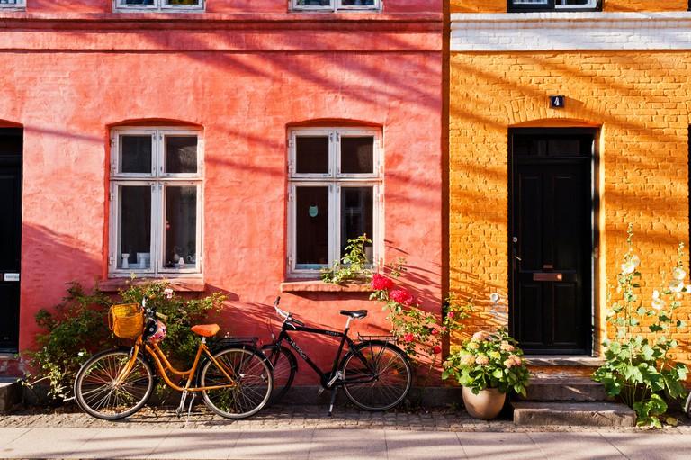 Colorful Copenhagen street scene
