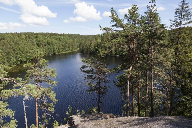 Lake Haukkalampi - Nuuksio National Park, Finland