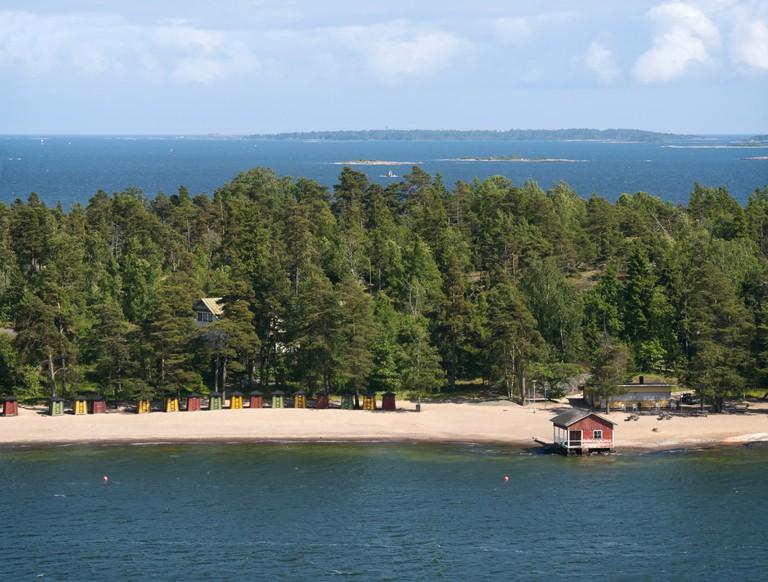Finnish beach and islands