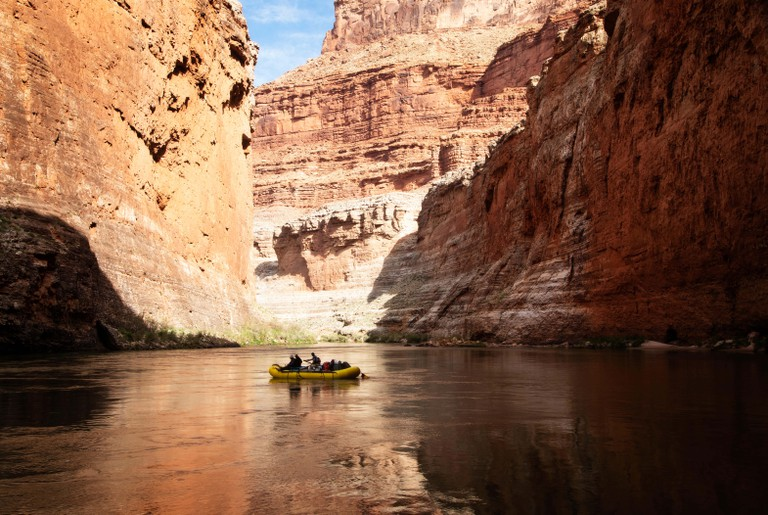 Rafters navigate the Colorado River