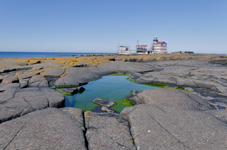 Lighthouse, Market island, Baltic Sea, Finland /Sweden