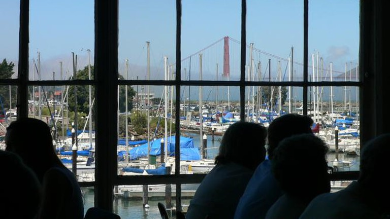 View of Golden Gate Bridge from Greens Restaurant